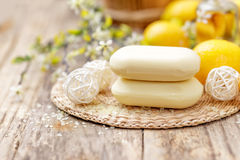 Lemon soap Royalty Free Stock Image