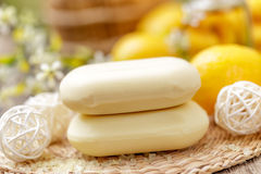 Lemon soap Royalty Free Stock Photography