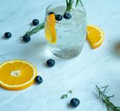 Lemon Soda Cocktail. On White Background Stock Images