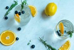 Lemon Soda Cocktail. With white background Royalty Free Stock Photo