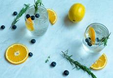 Lemon Soda Cocktail. On white Background Royalty Free Stock Images