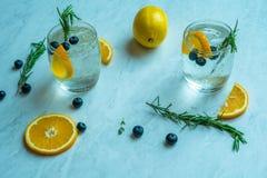 Lemon Soda Cocktail. On white background Stock Photos