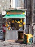 Lemon soda fountain, acquafrescaio, in Naples. Royalty Free Stock Photos