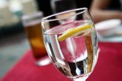 Lemon in in Soda Water stock photo