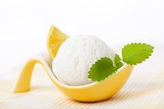 Lemon sorbet Stock Photo