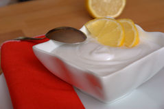 Lemon sorbet. A fresh lemon sorbet digestive Stock Images