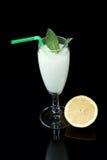 Lemon sorbet. On black background Royalty Free Stock Photography