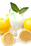 Lemon sorbet. On white background Royalty Free Stock Image