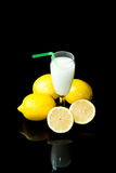 Lemon sorbet Stock Photography