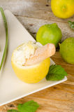 Lemon sorbet Royalty Free Stock Images