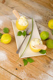 Lemon sorbet Stock Photo