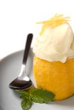 Lemon sorbet with mint Royalty Free Stock Image