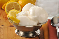Lemon sorbet Royalty Free Stock Photos