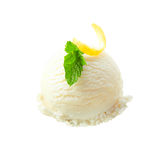 Lemon sorbet with zest and mint Stock Images