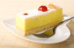 Lemon souffle cake Stock Image