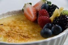 Lemon Souffle Dessert Stock Photo