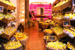 Lemon Souvenirs shop Sorrento Italy. Lemon and Lemoncello souvenirs of the Amalfi Coast Royalty Free Stock Image
