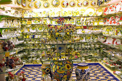 Lemon Souvenirs Sorrento Italy. Lemon and Lemoncello souvenirs of the Amalfi Coast Stock Images