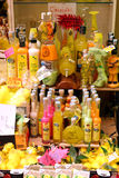 Lemon Souvenirs Sorrento Italy. Lemon and Lemoncello souvenirs of the Amalfi Coast Royalty Free Stock Photography