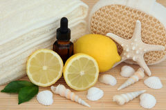 Lemon Spa Treatment Stock Photos
