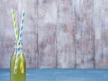 Lemon sparkling soft drink in a glass bottle Stock Photography