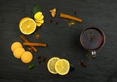 Lemon Spice Tea Ingredients Royalty Free Stock Image