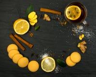 Lemon Spice Tea Ingredients Royalty Free Stock Photos