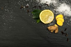 Lemon Spice Tea Ingredients Stock Photos