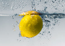 Lemon splash Stock Image