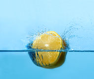 Lemon splash Royalty Free Stock Image
