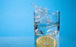 Lemon splash Stock Image