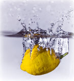 Lemon Splash Royalty Free Stock Photography
