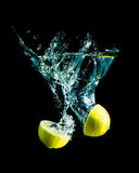 Lemon with splash Stock Photography