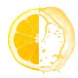 Lemon splash Royalty Free Stock Image