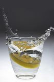 Lemon splash in soda Stock Photography