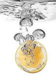 Lemon splash in water Stock Images