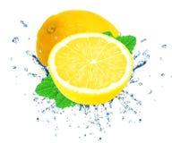Lemon splash Stock Images