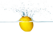 Lemon Splashing Stock Photos