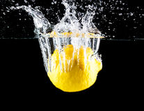 Lemon splashing Royalty Free Stock Photo