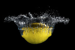 Lemon Splashing Royalty Free Stock Photos