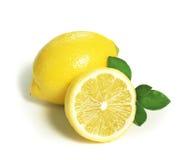 Lemon split in half Royalty Free Stock Image
