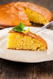 Lemon Sponge Cake Royalty Free Stock Photos