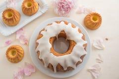 Lemon sponge cake Stock Photo