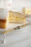 Lemon Sponge Cake Stock Image