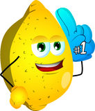 Lemon sports fan with glove Royalty Free Stock Photography