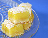 Lemon squares Stock Photography