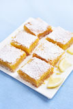 Lemon squares on plate Royalty Free Stock Photography