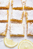 Lemon squares and slices Stock Photos