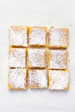 Lemon squares, top view Royalty Free Stock Image