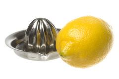 Lemon and Squeezer Isolated Stock Images